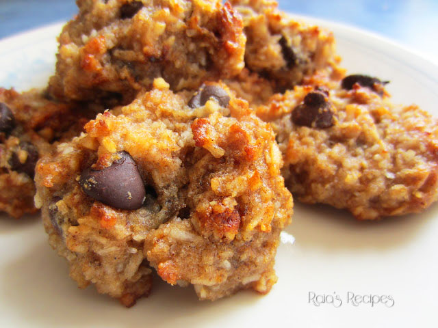 Chewy Peanut Butter & Coconut Cookies by Raia's Recipes