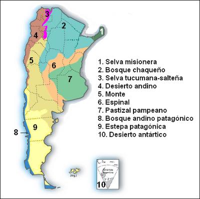 Escuela n 24 de17 pte roberto marcelino ortiz biomas for Ambientes de argentina