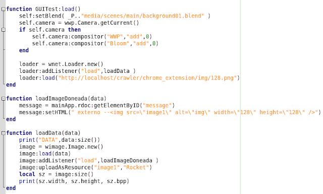 Código da carga de imagem
