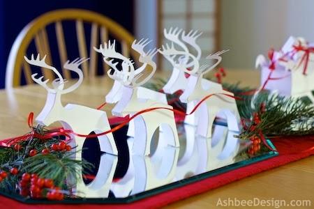 Ashbee Design Silhouette Projects 3d Reindeer Tutorial