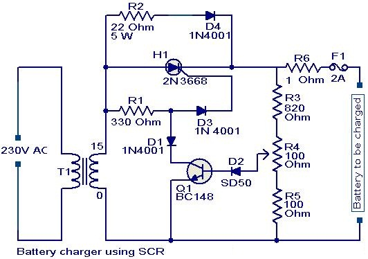 Battery Charger Circuit Using Scr on Usb Charger Circuit Diagram