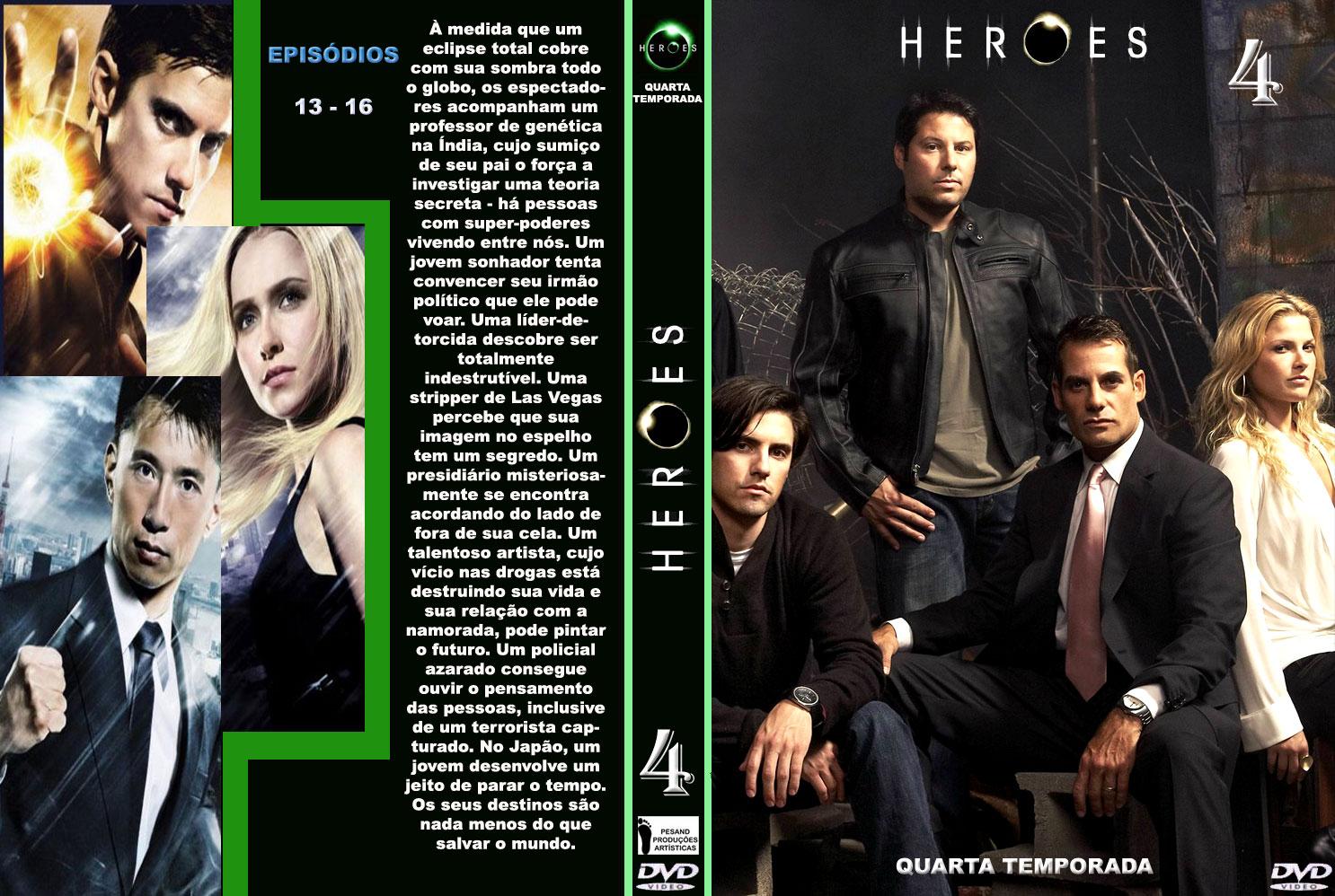 CAPAS EM SÉRIE: CAPAS DVD HEROES