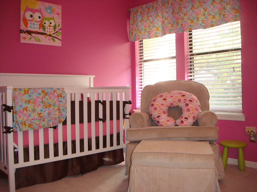 Baby Girl Nursery Painting Ideas | Baby Interior Design