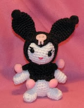 http://www.ravelry.com/patterns/library/amigurumi-kuromi-lookalike-doll