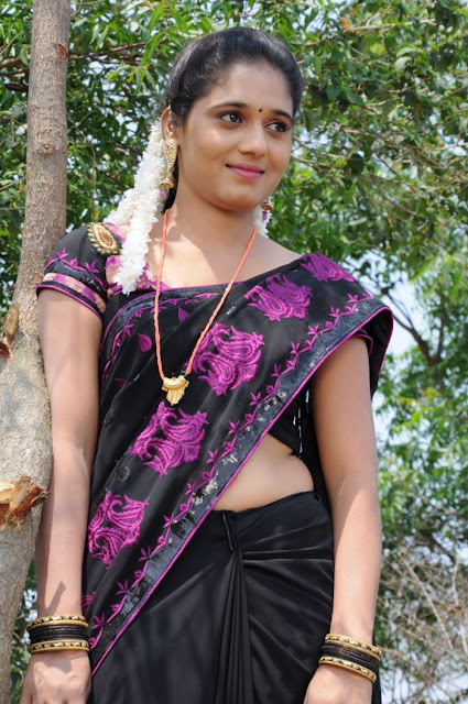 Geetha Pallavi in Saree Cute Beauty