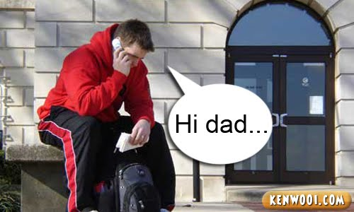 phone call to dad