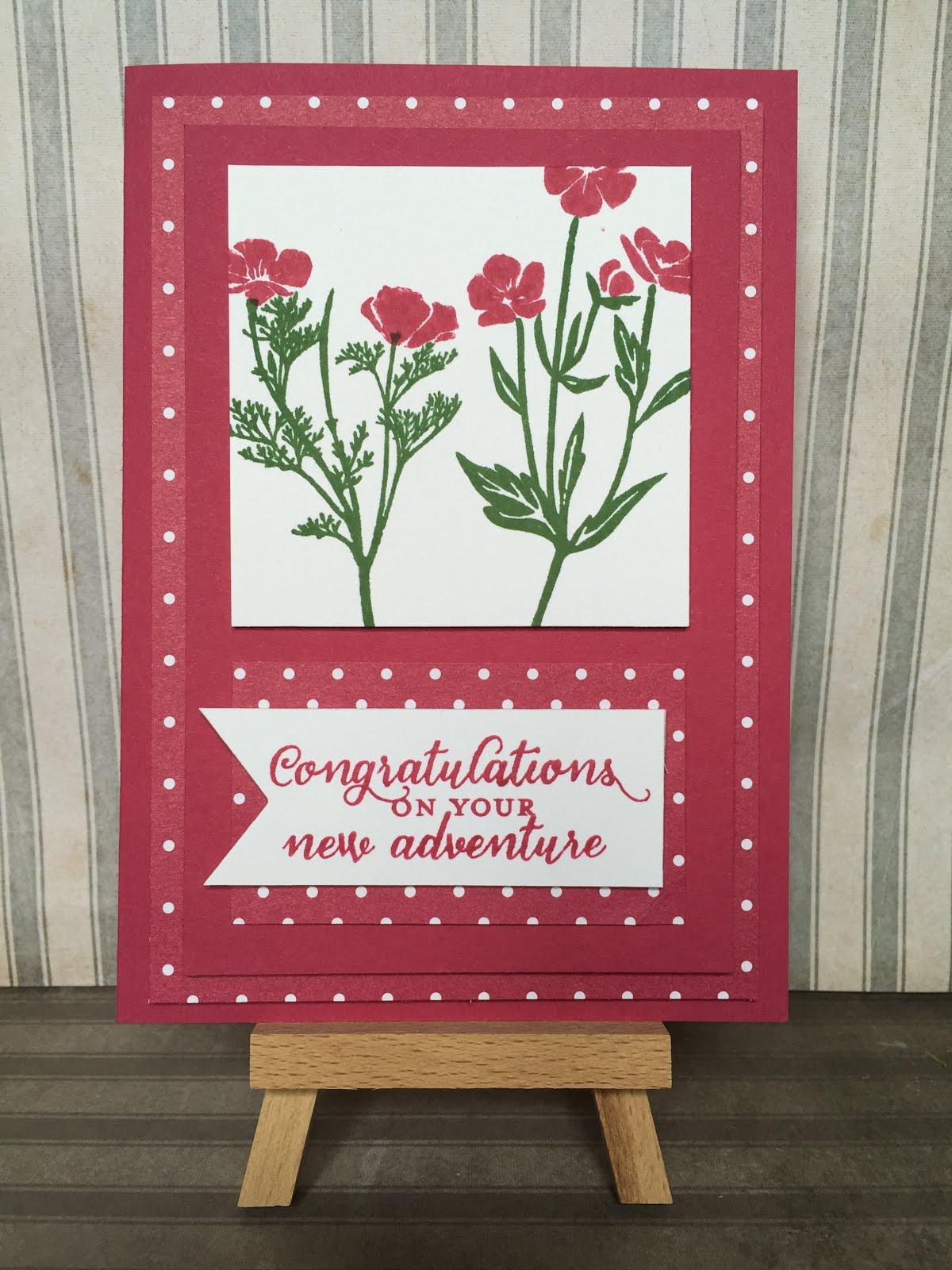 Congratulations in pink