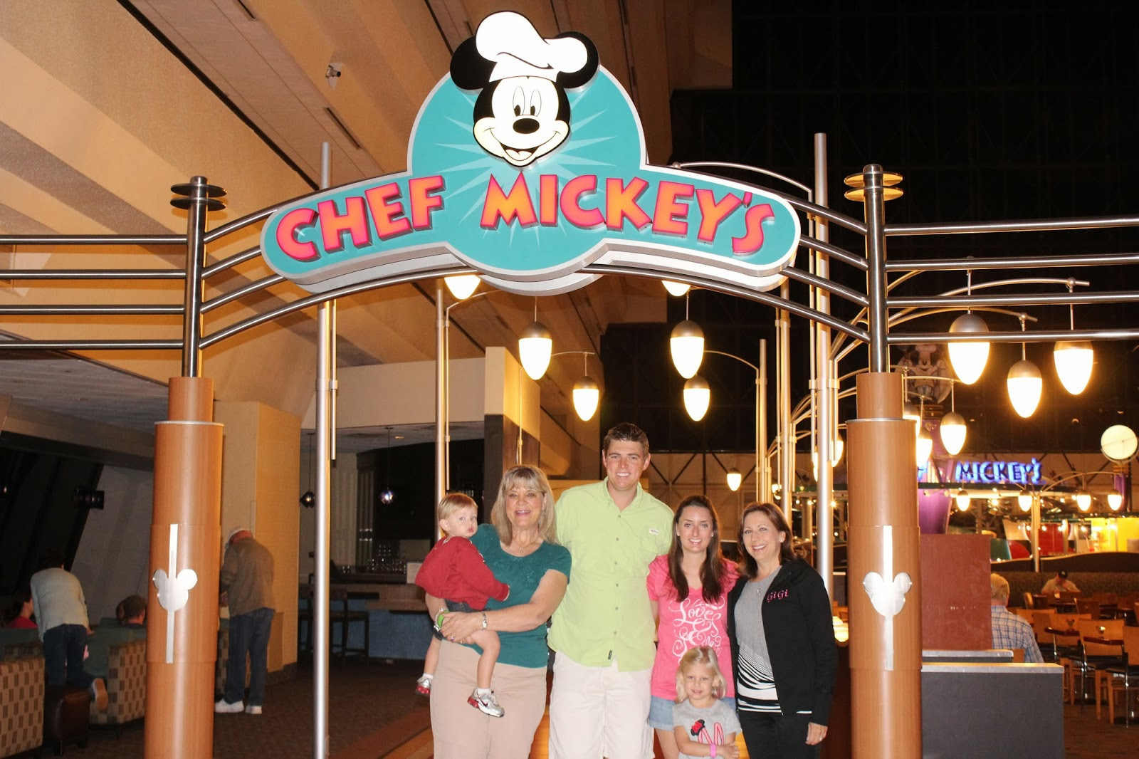 keeping up with the kleckleys disney world chef mickey u0027s and day