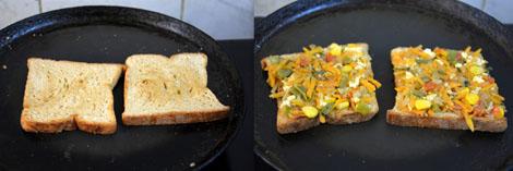 Bread Veg Masala Toast