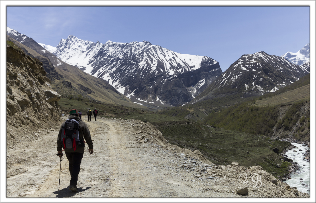 Start of the trek from Chitkul , Kinnaur