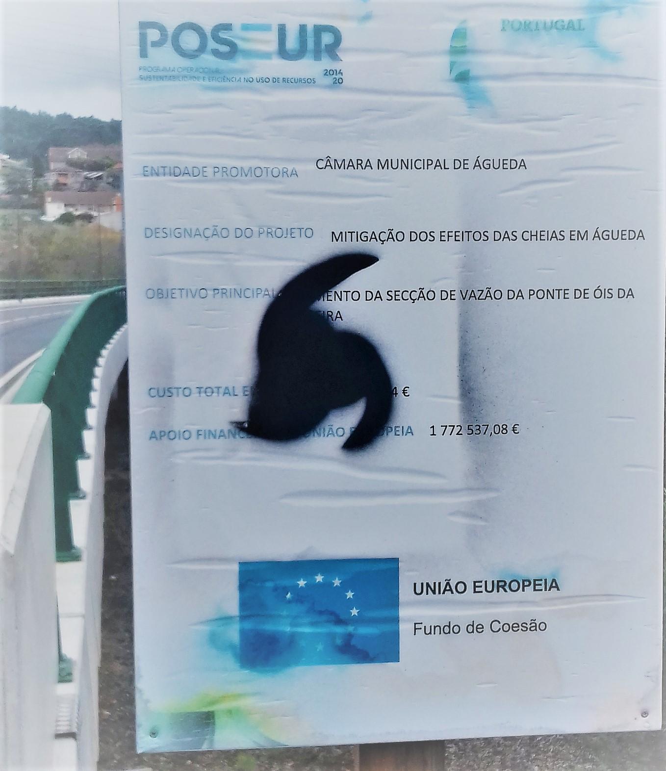 PLACA VANDALIZADA NA ENTRADA DA PONTE NOVA!