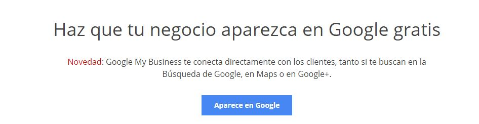 Google my business paso 1