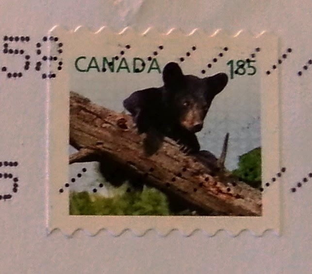 francobollo canadese Black bear