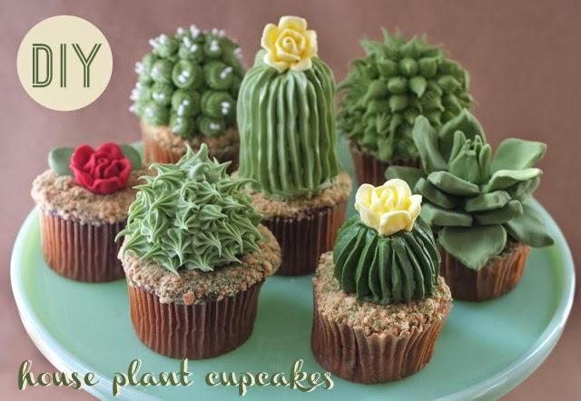 Cupcakes con forma de plantas