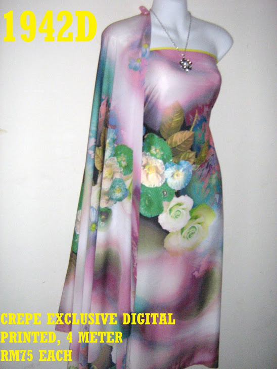 CDP 1942D: CREPE EXCLUSIVE DIGITAL PRINTED, 4 METER