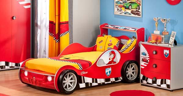 lits en forme de voitures de course pour les chambres denfant - Chambre Garcon Voiture