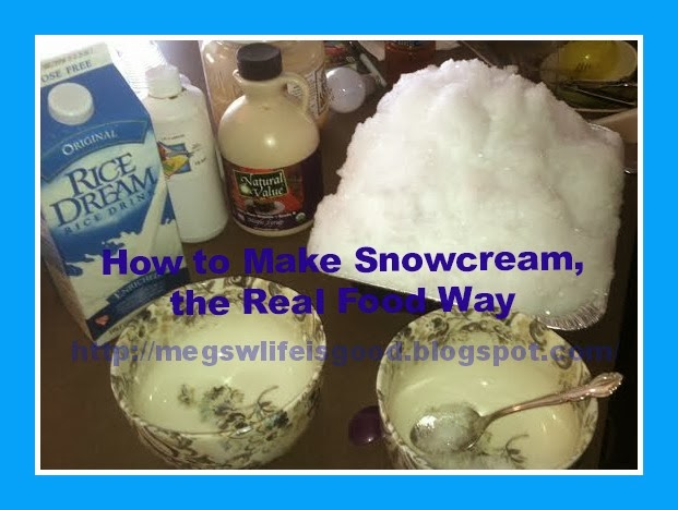 How to make real food snowcream snow ice cream with dairy free this isnt your mamas snow cream there are no processed ingredients and that means no white sugar ccuart Gallery