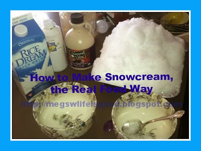 How to make real food snowcream snow ice cream with dairy free this isnt your mamas snow cream there are no processed ingredients and that means no white sugar ccuart Choice Image