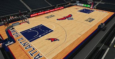 NBA 2K14 Hawks HD Court Mod