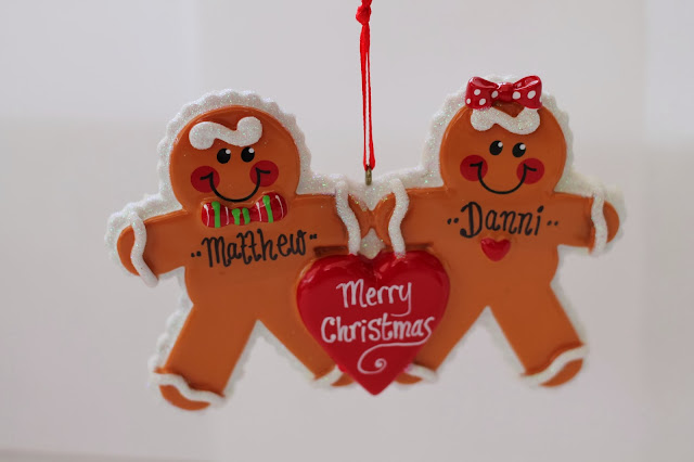 Gingerbread Man Presents Christmas Personalised Ornament