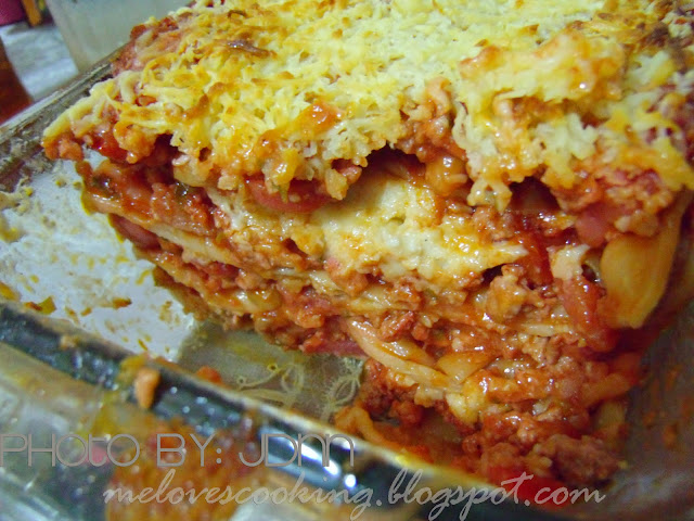Me Loves cooking: Pinoy style Lasagna