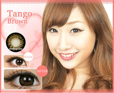 Tango Brown Contact Lenses at ohmylens.com