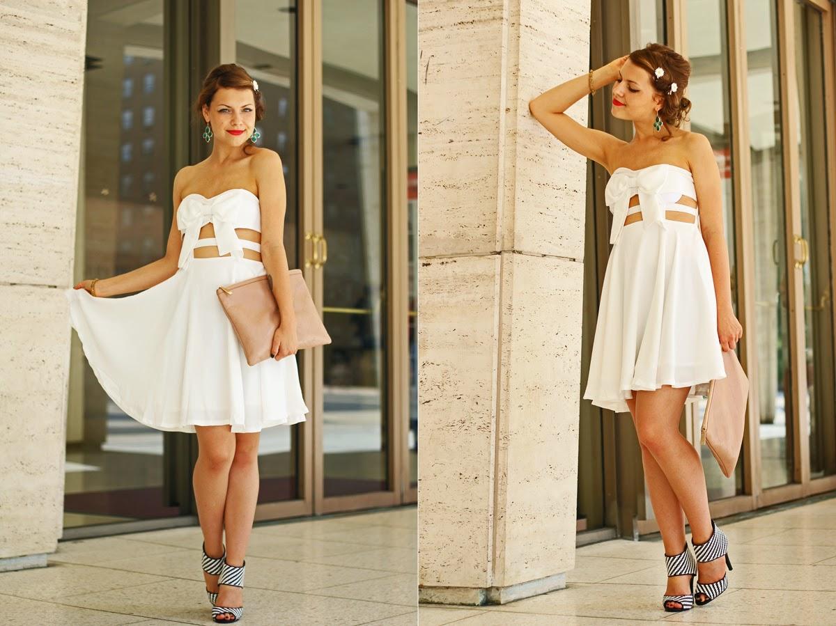 new york fashion week street style white dress