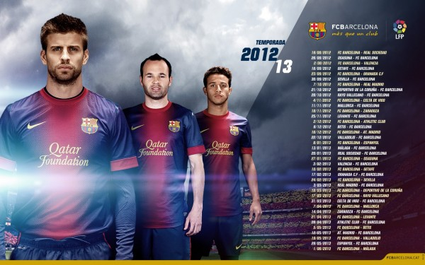barcelona fc wallpaper 2012 2013 1 Kumpulan Foto Wallpaper Tim Barcelona Terbaru 2013