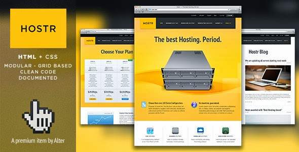 Download Free Hostr - Themeforest HTML5-CSS3 Hosting Template