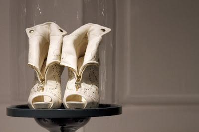 alexander mcqueen white zipper boots