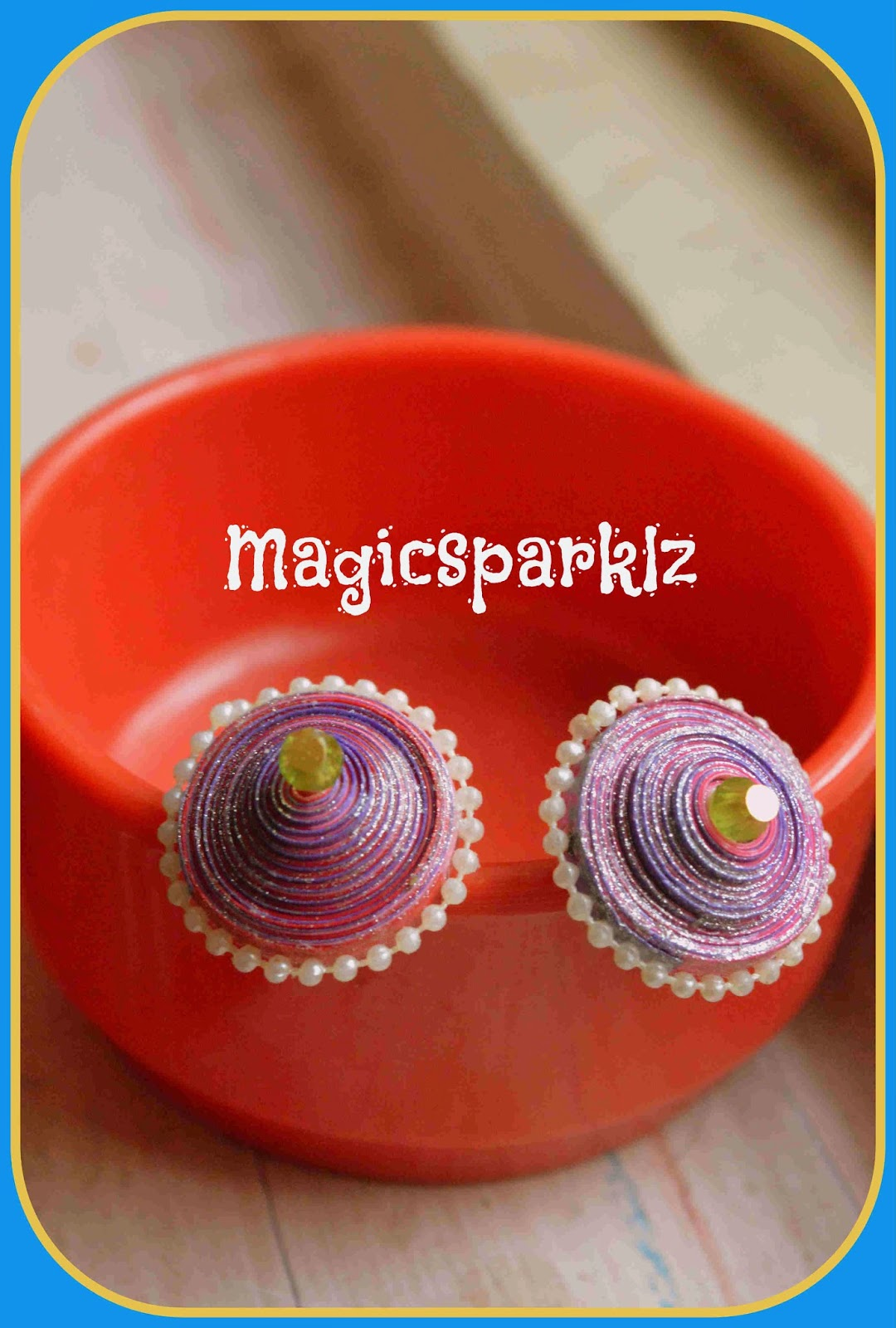 My second quilled earrings