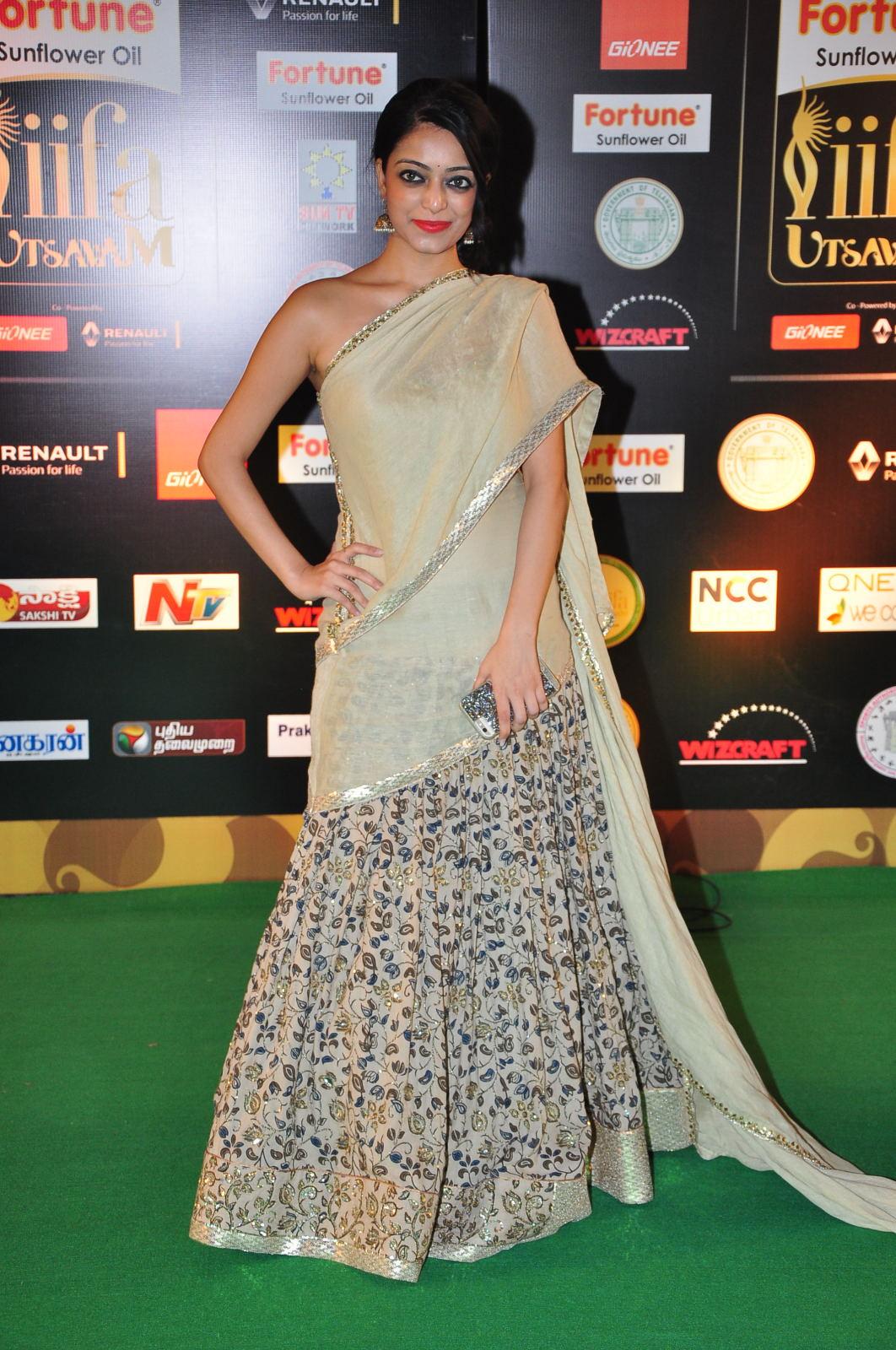 janani iyer glamorous in saree-HQ-Photo-12
