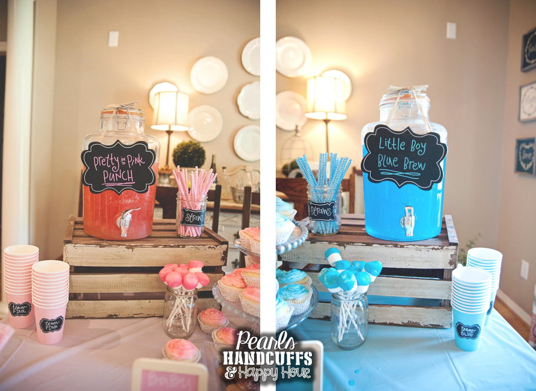 Pearls Handcuffs And Happy Hour Gender Reveal Party