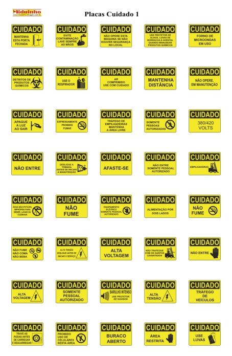 Miduinho - Vetor, Vetores, vetorizar: Placas para Sinalização