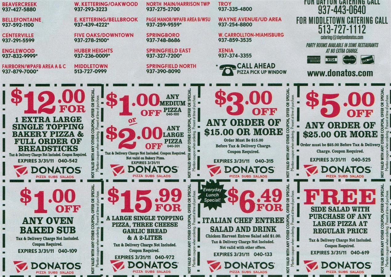 Donatos pizza coupon codes