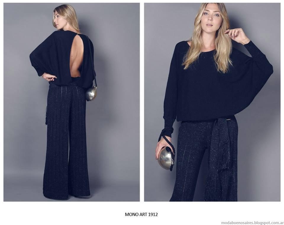 Blusas y sweaters tejidos invierno 2015 Agostina Bianchi. Moda invierno 2015.