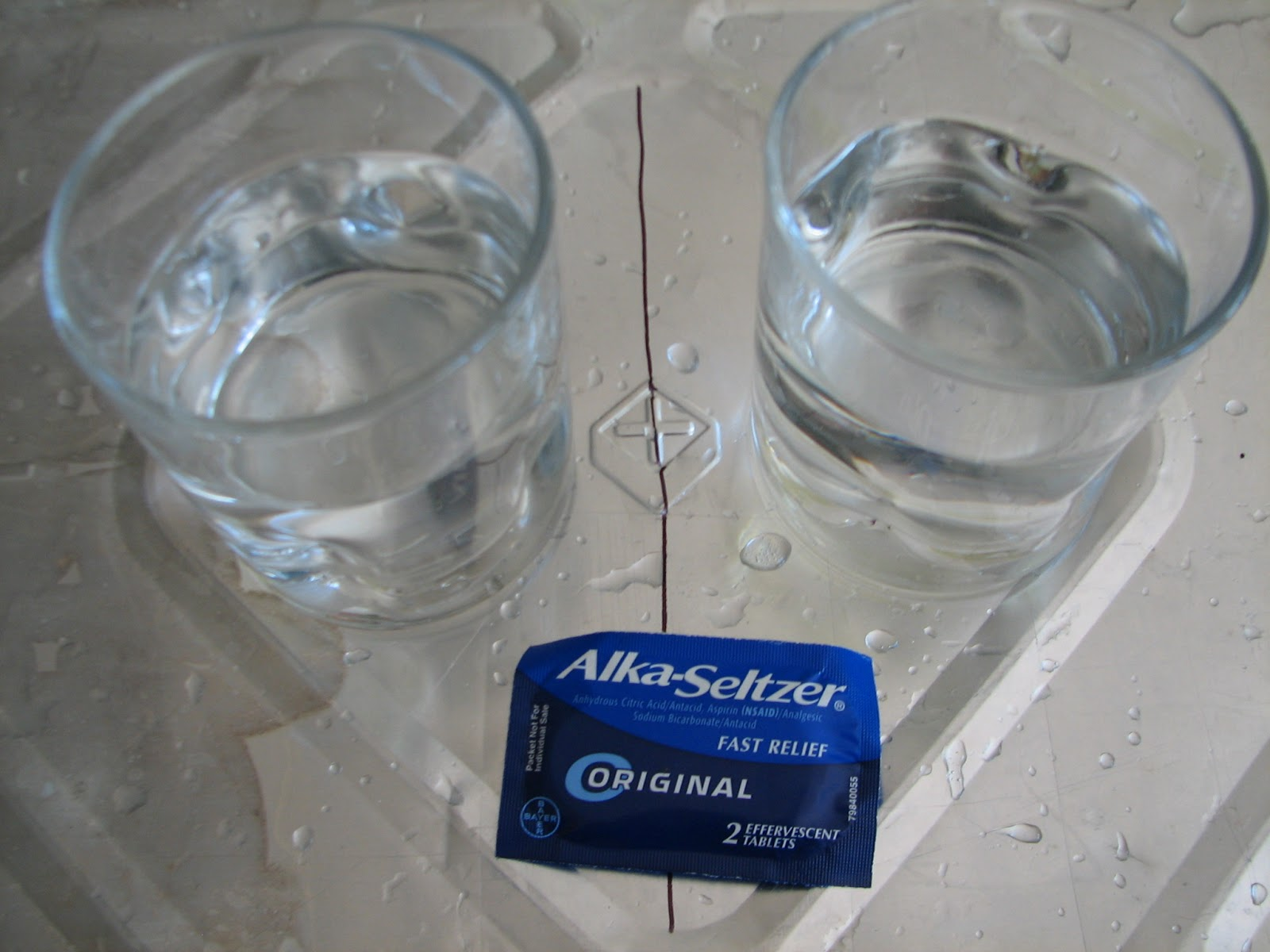 alka seltzer tablets react with water essay 1 answer to 0605 rate and collision theory: the bicarbonate ions in the tablet react with the hydrogen alka-seltzer tablets empty and clean water or.