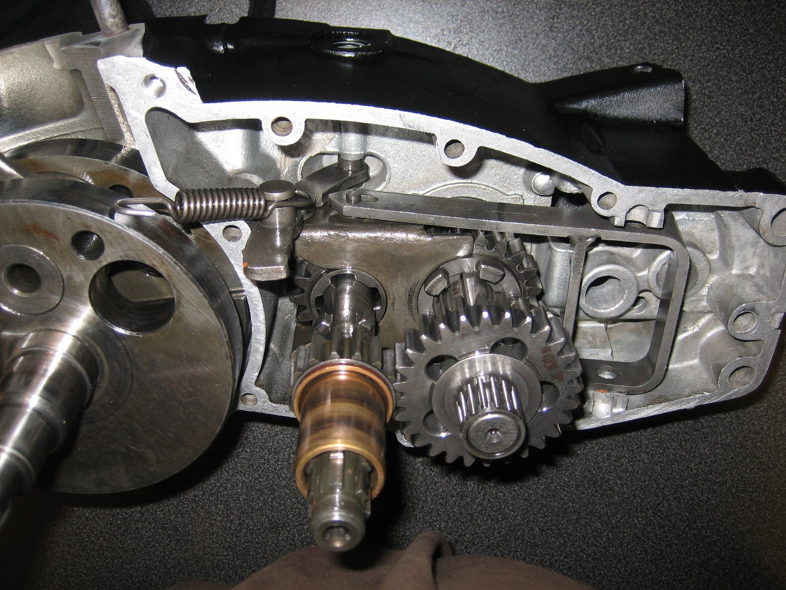 swedish fireballs husqvarna cr  engine rebuild part  transmission
