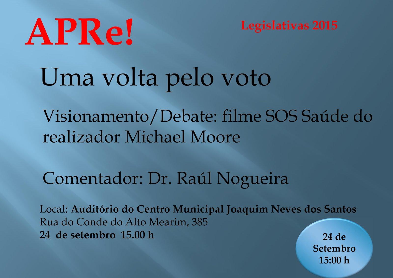 Uma volta pelo VOTO, sessão pública de debate promovida pela APRe! em Matosinhos