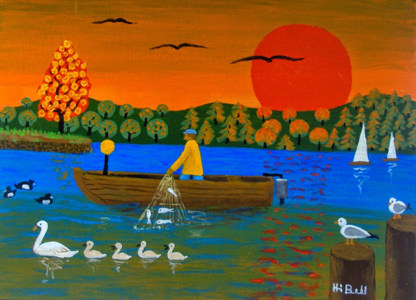 Peinture na ve de henri j bell - L heure du coucher du soleil aujourd hui ...