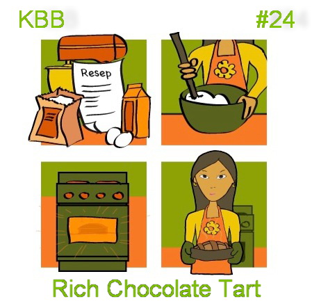 PAWONIKE - this is my kitchen rules...: KBB #24 Rich Chocolate Tart