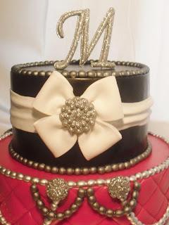 made FRESH daily: Red, Black & Bling Birthday Cake!