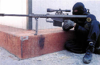 Barrett M-82 or Light Fifty 'anti materiel' rifle
