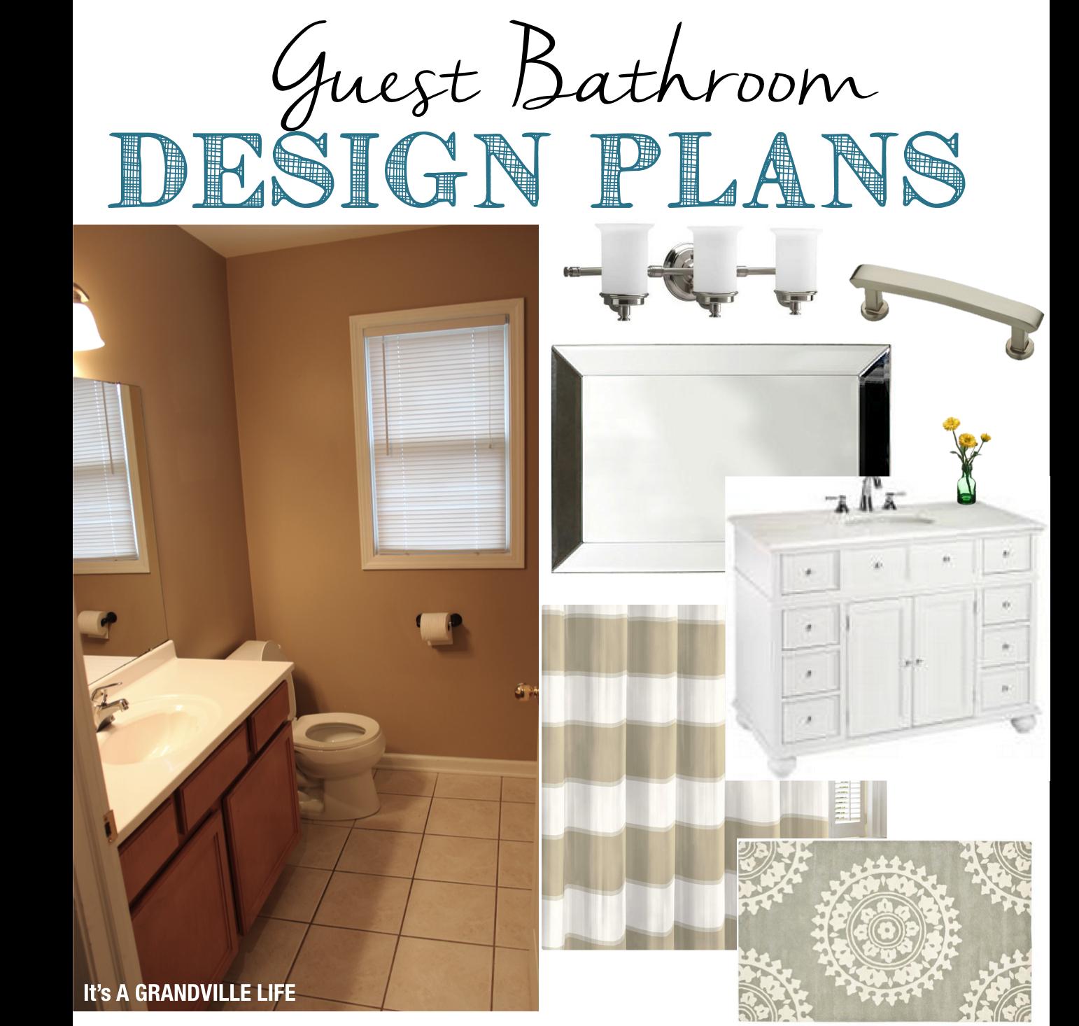 It\'s A Grandville Life : Guest Bathroom Design Plans