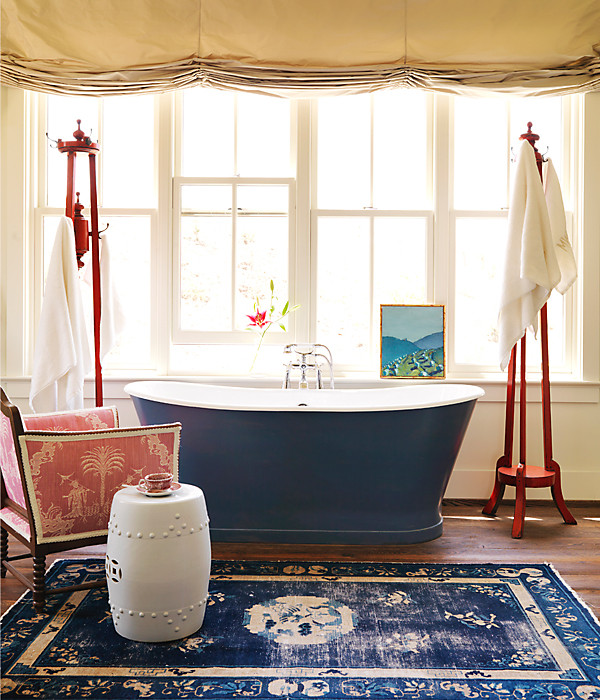 Ethnic cottage decor much ado about awesome rooms for Summer bathroom decor