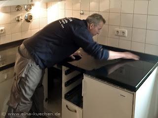 Granitarbeitsplatte Nero Assoluto einbauen