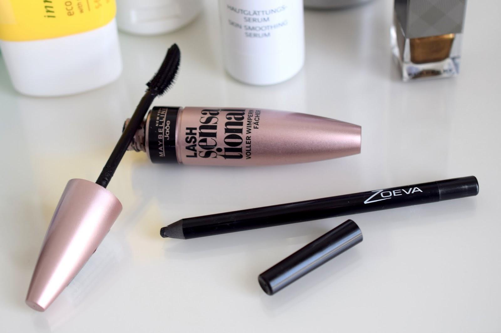 Maybelline Lash Sensational Mascara und Zoeva Grahpic Eyes Waterproof Eyeliner NYX