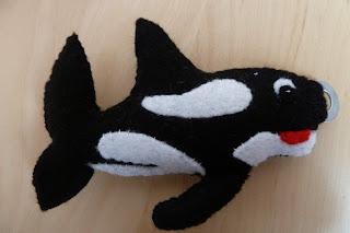 mini felt killer whale