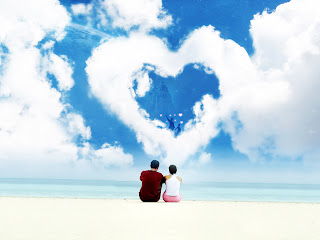Free Download Love On Beach Wallpaper