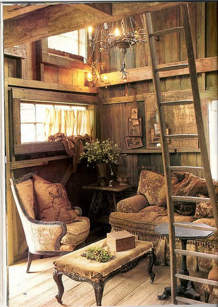 Dream Home Interiors Old Wood Reading Room